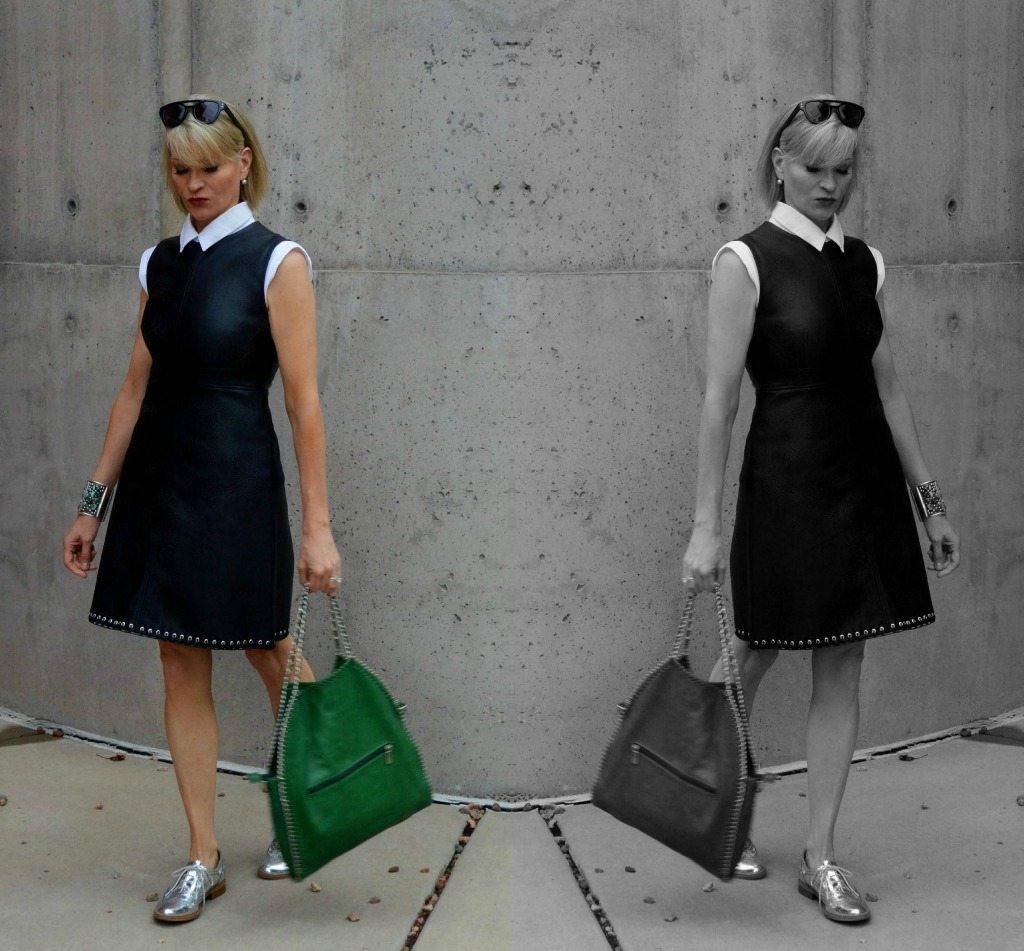 zara black dress coll